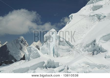 Snow glacier in the high Cordilleras