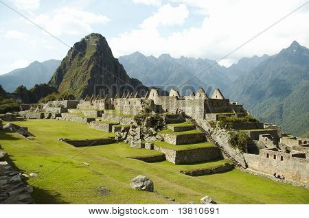 Ruins in the lost incas city Machu-Picchu,Peru