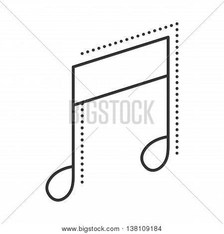 Music note icon. Melody thin line symbol. Vector illustration.