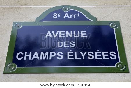 Avenue Des Champs Elysees, Paris, France