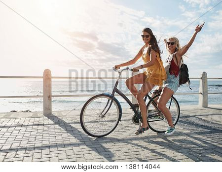 Best Friends Having Fun On A Bike