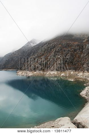 blue lake in Cordilleras mountain