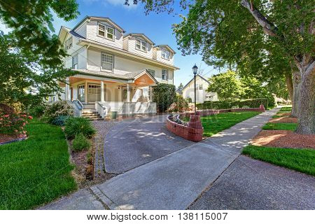 Large Luxury  Craftsman Classic American House Exterior.