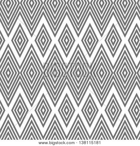 seamless geometric pattern diamond zigzag, black and white background