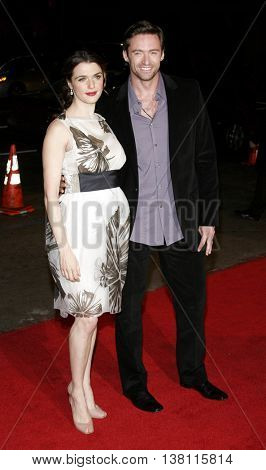Hugh Jackman and Rachel Weisz at the AFI Centerpiece Gala Screening of 'The Fountain' held at the Grauman's Chinese Theatre in Hollywood, USA on November 11, 2006.