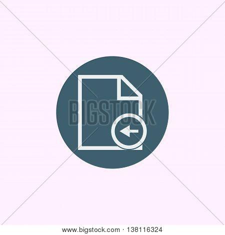 File Left Icon In Vector Format. Premium Quality File Left Symbol. Web Graphic File Left Sign On Blu