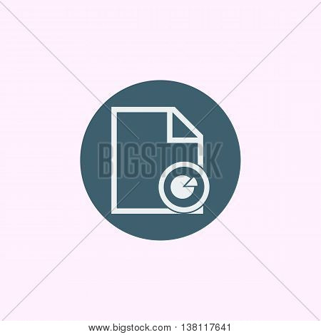 File Pie Icon In Vector Format. Premium Quality File Pie Symbol. Web Graphic File Pie Sign On Blue C