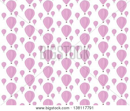 Vector rose Baloons pattern on isolated background