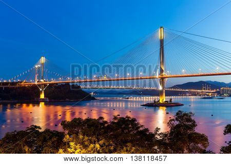 Suspension bridge in Hong Kong
