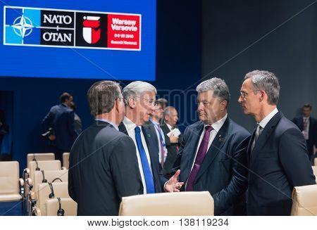 Michael Fallon, Jens Stoltenberg And Petro Poroshenko