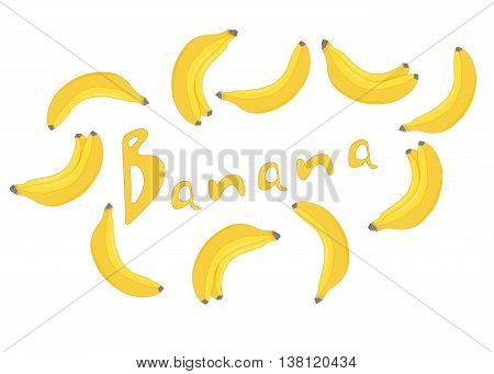 Yellow bananas. The lettering