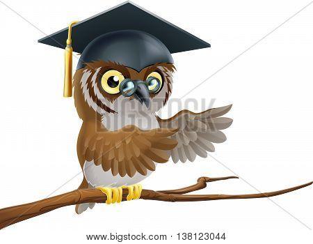 Owl Graduate Or Teacher