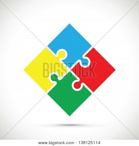 a colourful jigsaw square pieces background image