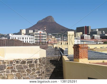 View Of Lions Head From the Castle, Cape Town South Africa 01