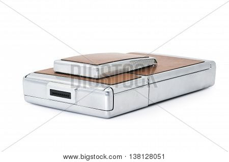 old Instant Camera isolated on a white background