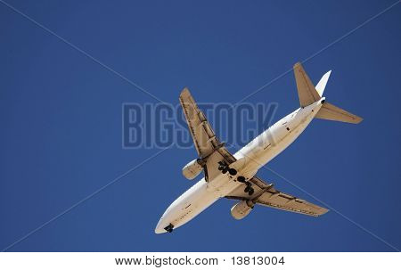 jet approaching airport