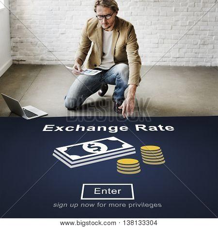 Exchange Rate Finance Trade Website Online Concept