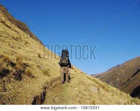 Mountaineer on the trail