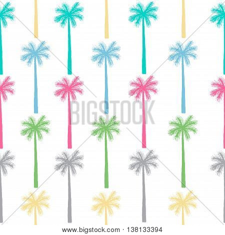 Palm Tree Seamless Pattern. Vector Botanical