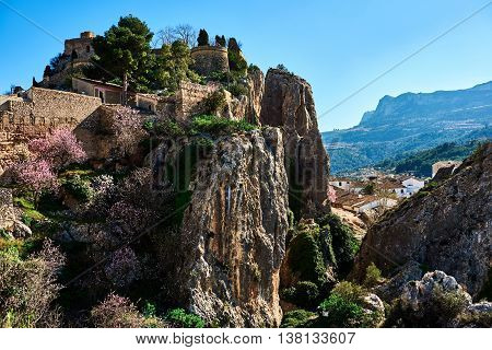 Guadalest Castle. Spain