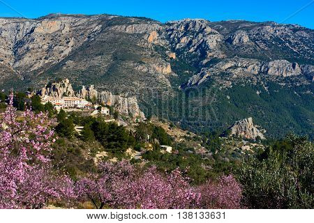 Guadalest Castle On A Rock. Spain