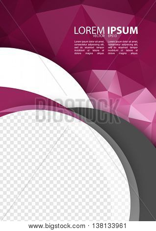 eps10 vector, A4 size leaflet pamphlet corporate modern design