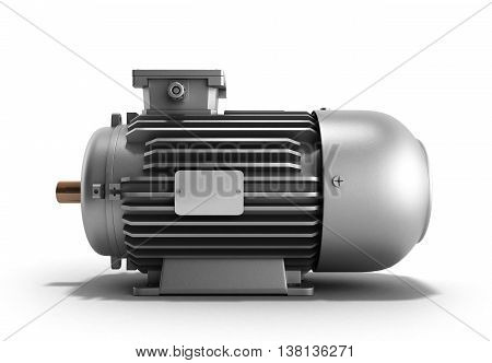Electric Motor Generator 3D Render On A White Background