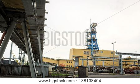 Mining Infrastructure. Shaft, Conveyors And Buildings .