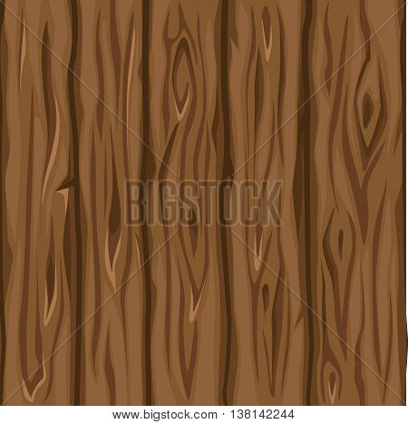 Wood texture old brown boards in vector