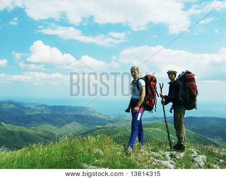 Personen-Übersicht-Landschaft
