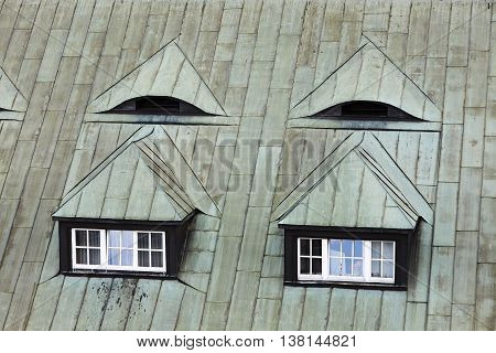Attic Window. Roof Window