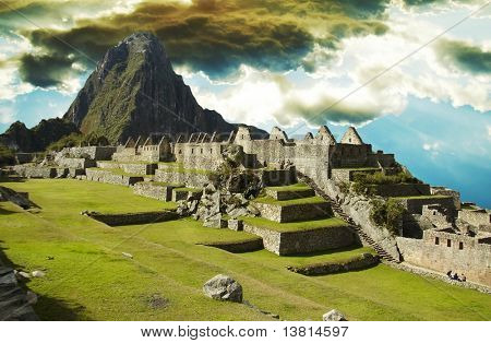 Building in Machu-Picchu city