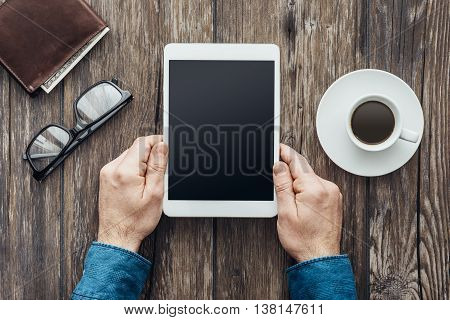 Hipster Using A Tablet