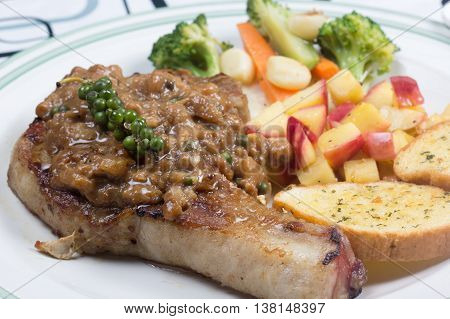 Pork chop steak / cooking pork chop steak concept