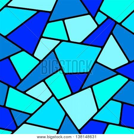 Seamless blue mosaic pattern.