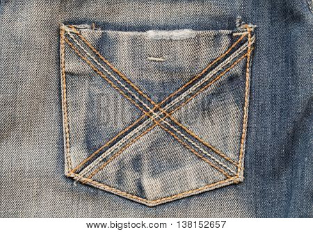background texture fabric design jeans denim pant at back
