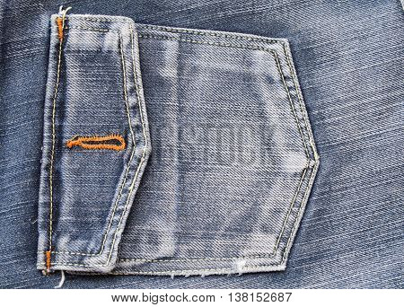 background texture fabric jeans denim pants at back