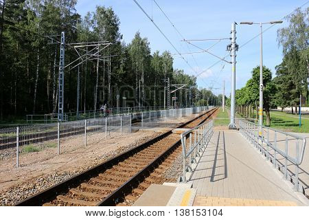 a trip by rail in Latvia Riga Jurmala