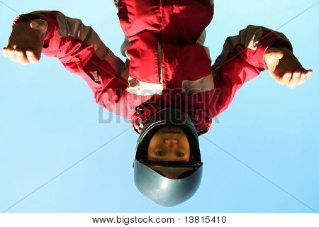 Skydiver on trening