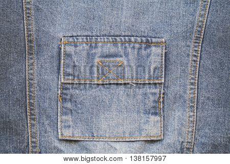 background texture design fabric jeans denim jacket at back