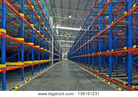 Warehouse shelving storage metal pallet racking system in warehouse