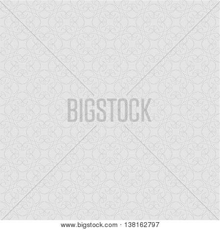 The pattern with decorative ornament in vintage style on gray background