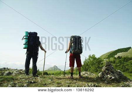 People overview mountains landscapes