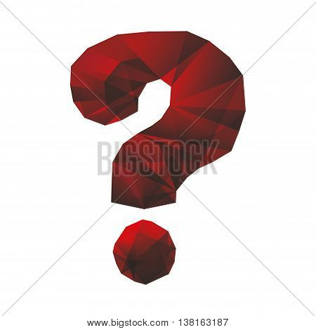 Doubt concept represented by Question mark icon. Isolated and flat illustration