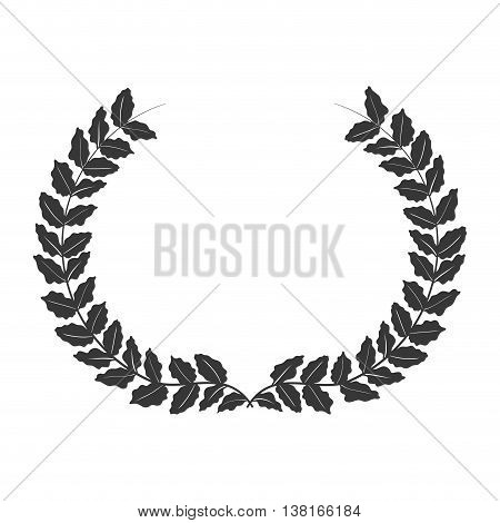 Rustic concept represented by wreath icon. Isolated and flat illustration
