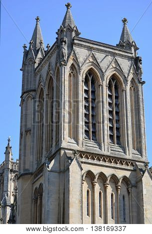 Bristol Cathedral Exterior in South West England