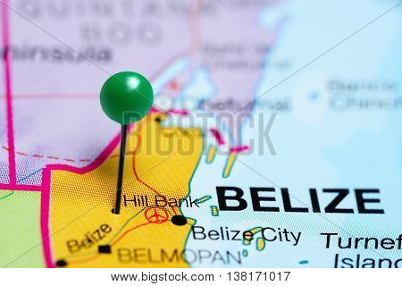 Hill Bank pinned on a map of Belize