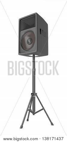 Stage speaker on white background, 3D illustration