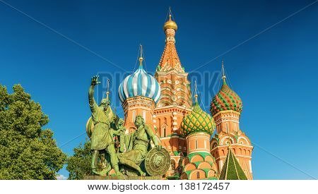 Saint Basil's Cathedral in Red Square. Moscow, Russia.