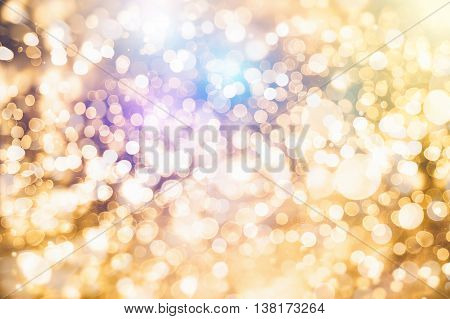 Colorful circles of light abstract background .abstract light bokeh background